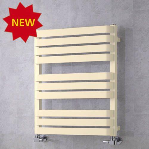 Additional image for Heated Towel Rail & Wall Brackets 785x500 (Oyster White).