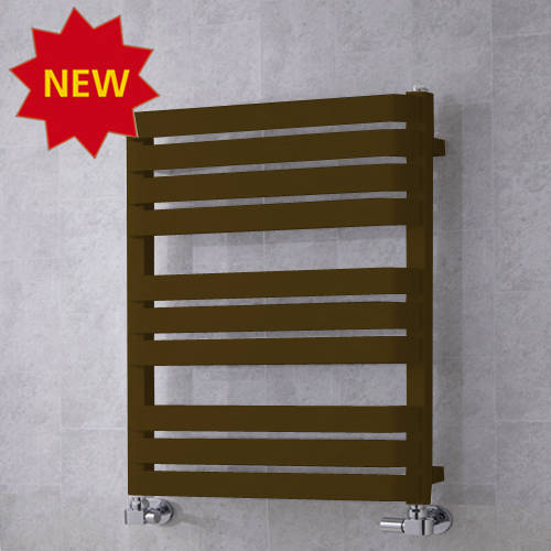 Additional image for Heated Towel Rail & Wall Brackets 785x500 (Nut Brown).