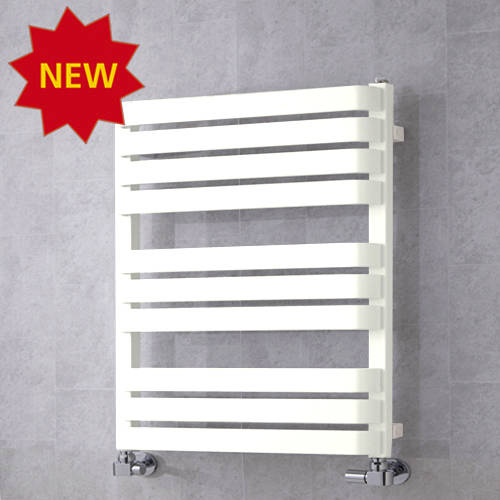 Additional image for Heated Towel Rail & Wall Brackets 785x500 (Pure White).