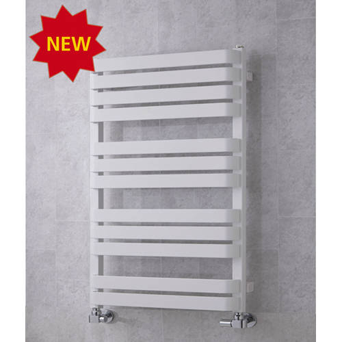 Additional image for Heated Towel Rail & Wall Brackets 915x500 (White).