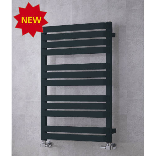 Additional image for Heated Towel Rail & Wall Brackets 915x500 (Anthracite Grey).