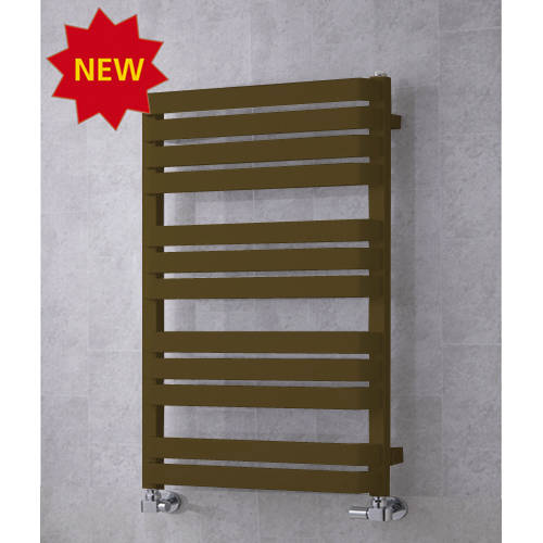 Additional image for Heated Towel Rail & Wall Brackets 915x500 (Nut Brown).