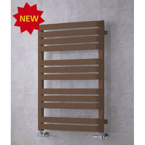 Additional image for Heated Towel Rail & Wall Brackets 915x500 (Pale Brown).