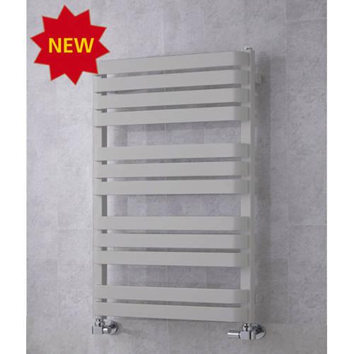 Additional image for Heated Towel Rail & Wall Brackets 915x500 (White Aluminium).