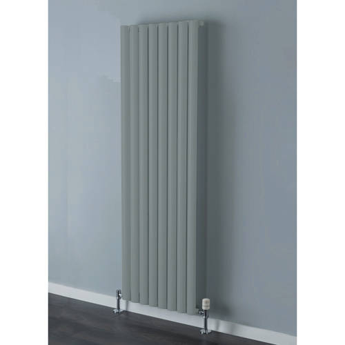 Additional image for Tallis Single Vertical Radiator 1820x600mm (Traffic Grey).