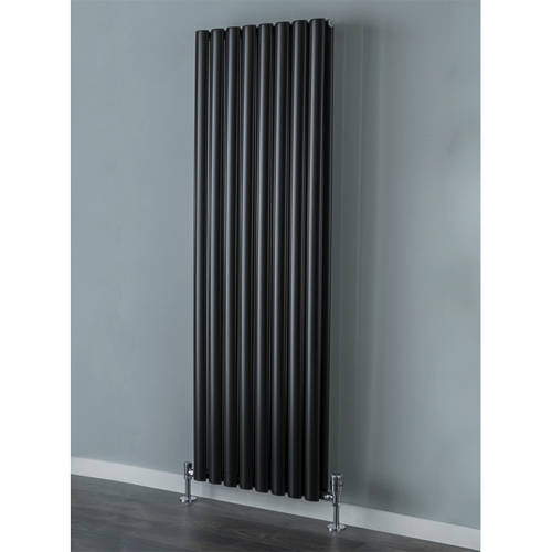 Additional image for Tallis Double Vertical Radiator 1820x600mm (Jet Black).
