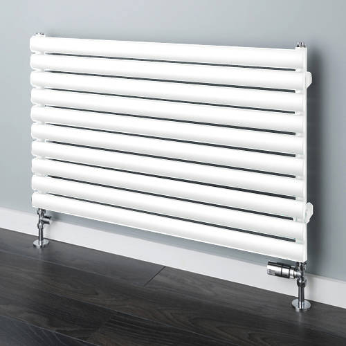 Additional image for Tallis Horizontal Radiator 480x1220mm (White, 2163 BTUs).