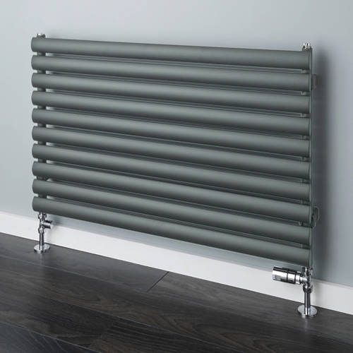 Additional image for Tallis Horizontal Radiator 480x1220mm (Traffic Grey A, 2163 BTUs).