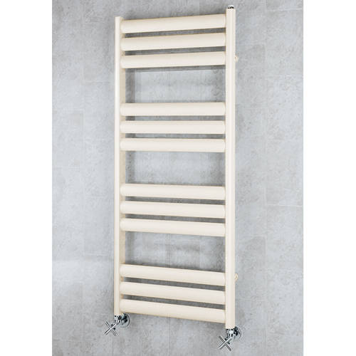 Additional image for Heated Ladder Rail & Wall Brackets 1060x500 (Oyster White).