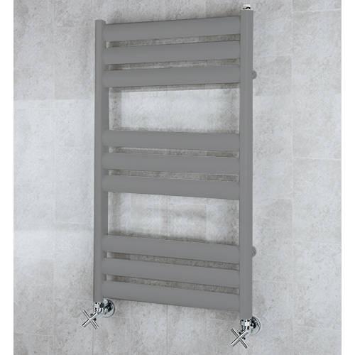 Additional image for Heated Ladder Rail & Wall Brackets 780x500 (Grey Aluminium).