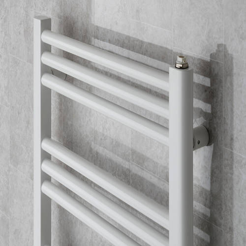 Additional image for Heated Ladder Rail & Wall Brackets 1374x500 (White).