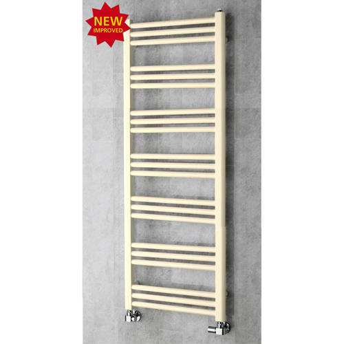 Additional image for Heated Ladder Rail & Wall Brackets 1374x500 (Oyster White).