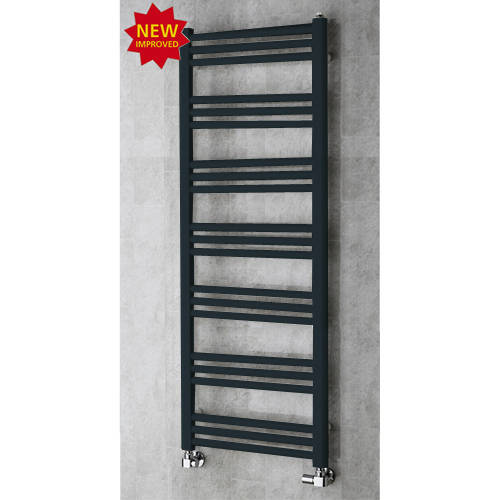 Additional image for Heated Ladder Rail & Wall Brackets 1374x500 (Anthracite Grey).