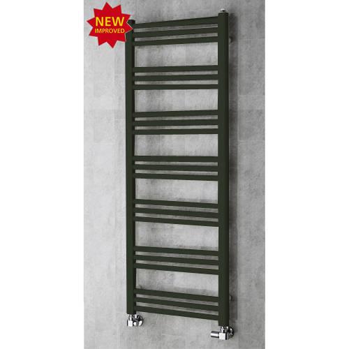 Additional image for Heated Ladder Rail & Wall Brackets 1374x500 (Signal Black).