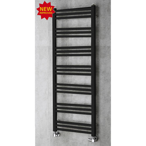 Additional image for Heated Ladder Rail & Wall Brackets 1374x500 (Jet Black).