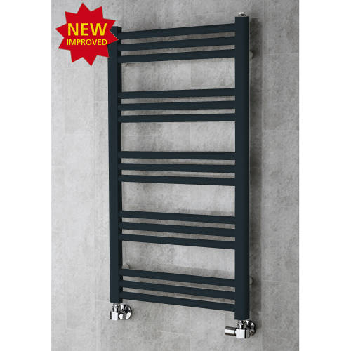 Additional image for Heated Ladder Rail & Wall Brackets 964x500 (Anthracite Grey).