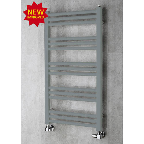 Additional image for Heated Ladder Rail & Wall Brackets 964x500 (Window Grey).