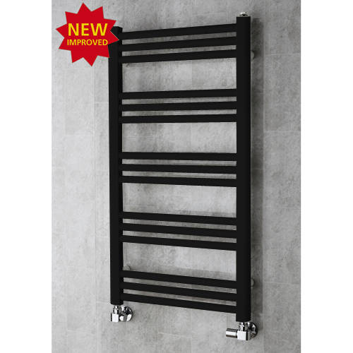 Additional image for Heated Ladder Rail & Wall Brackets 964x500 (Jet Black).