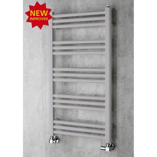 Additional image for Heated Ladder Rail & Wall Brackets 964x500 (White Aluminium).