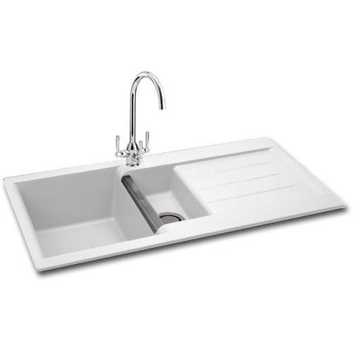 Additional image for Java 150 Double Bowl Granite Sink 1000x510mm (White).