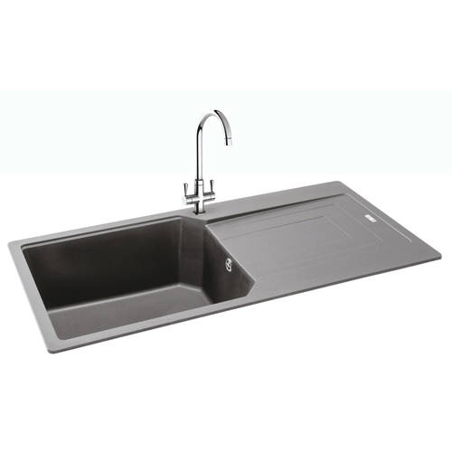 Additional image for Aruba Single Bowl Granite Sink 1000x500mm (Stone Grey).