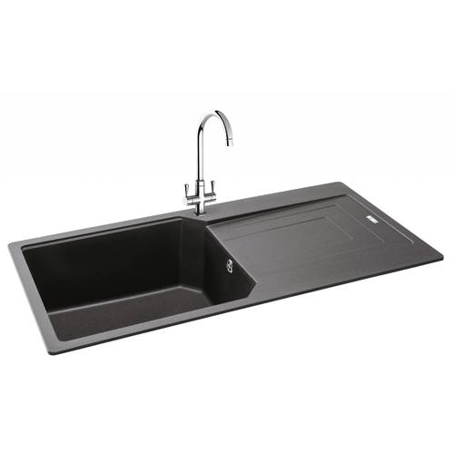Additional image for Aruba Single Bowl Granite Sink 1000x500mm (Graphite).