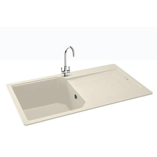 Additional image for Aruba Single Bowl Granite Sink 860x500mm (Champagne).