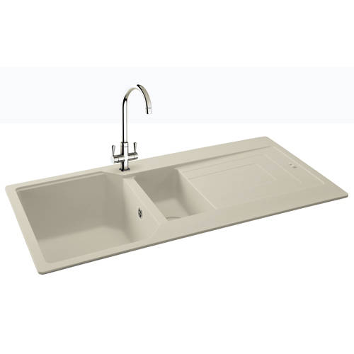 Additional image for Aruba Double Bowl Granite Sink 1000x500mm (Champagne).