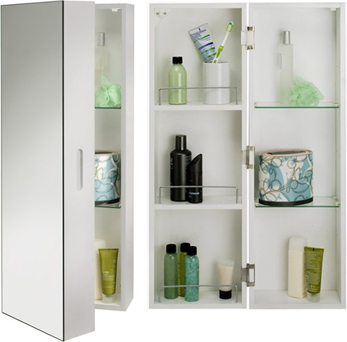 additional image for tall bathroom cabinet with mirror xxmm: croydex bathroom cabinet
