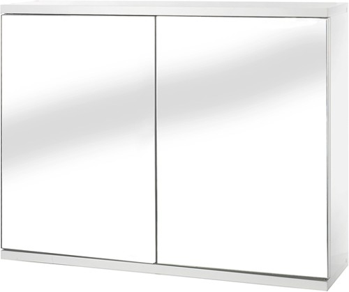 Additional image for Mirror Bathroom Cabinet With 2 Doors.  600x450x140mm.