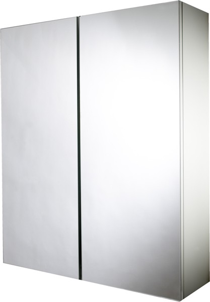 Additional image for Mirror Bathroom Cabinet With 2 Doors.  530x640x155mm.