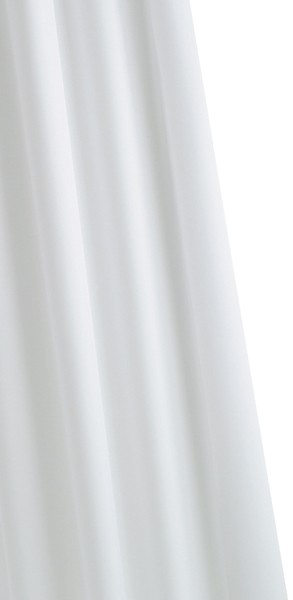 Additional image for Shower Curtain & Rings (White, 1800mm).