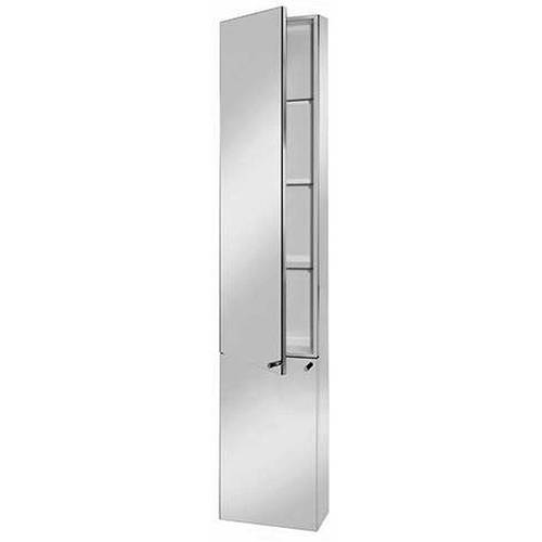 Additional Image For Nile Tall Boy Mirror Bathroom Cabinet 300x1500x120mm
