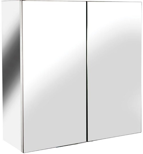 Additional image for Avon Small Mirror Bathroom Cabinet.  430x440x160mm.
