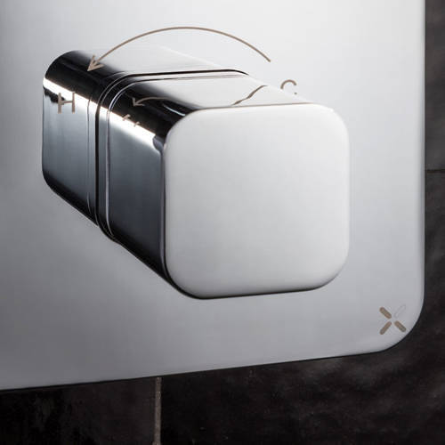 Additional image for Crossbox 1 Outlet Shower Valve (Chrome).