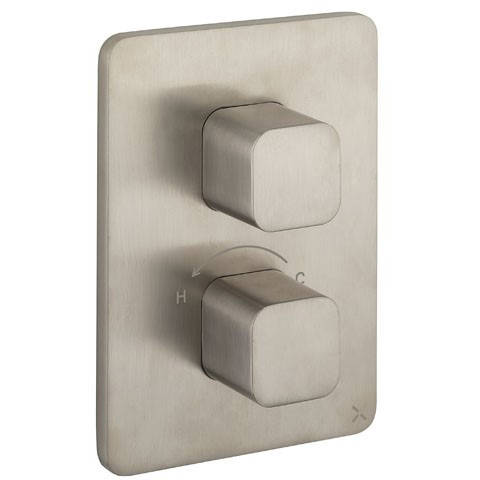 Additional image for Crossbox 2 Outlet Shower Valve (Stainless Steel).