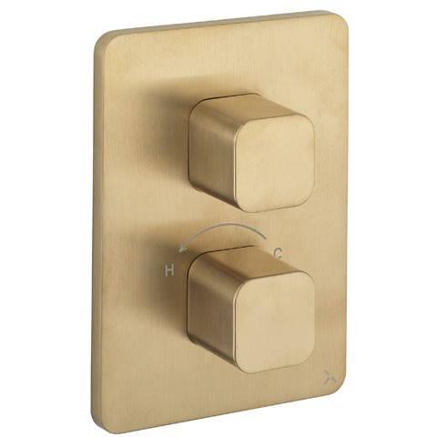 Additional image for Crossbox 3 Outlet Shower Valve (Brushed Brass).