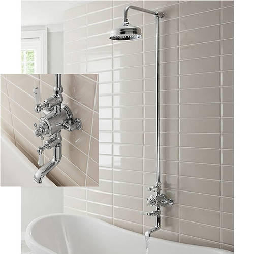 Additional image for Thermostatic 2 Outlet Shower / Bath Kit (Chrome).