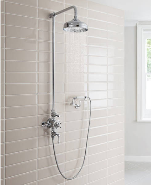 Additional image for Thermostatic 2 Outlet Cradle Shower Kit (Chrome).