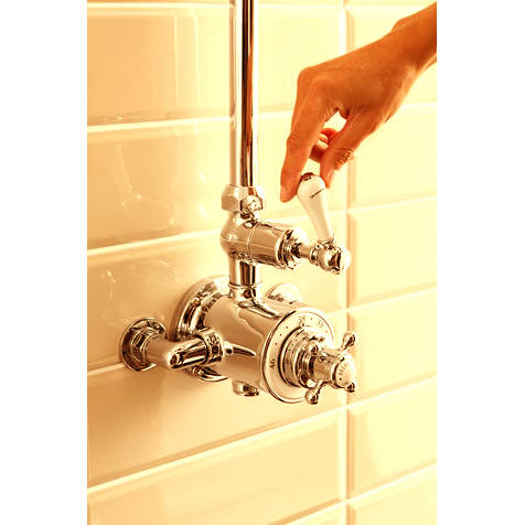 Additional image for Thermostatic 1 Outlet Shower Kit (Unlac Brass).