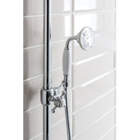Additional image for Thermostatic 2 Outlet Slider Shower Kit (Chrome).