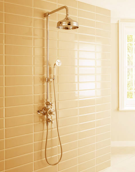 Additional image for Thermostatic 2 Outlet Slider Shower Kit (Unlac Brass).