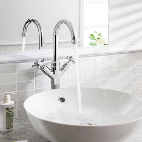 Additional image for Tall Basin Mixer Tap (Crosshead, Chrome).