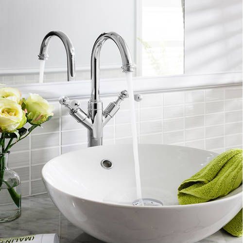 Additional image for Tall Basin Mixer Tap (Lever, Chrome).