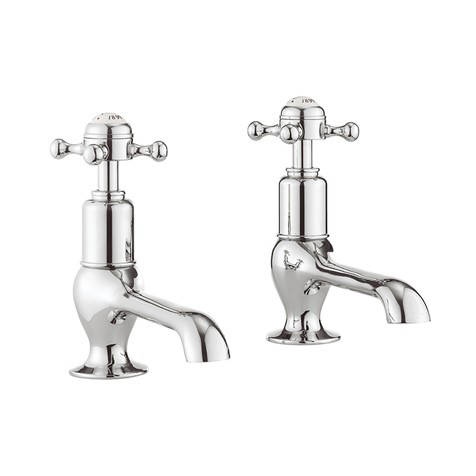 Additional image for Long Nose Basin Taps (Crosshead, Chrome).