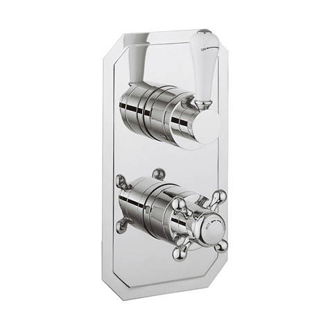Additional image for Thermostatic 2 Outlet Shower Valve (Chrome).