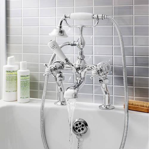 Additional image for Bath Shower Mixer Tap (Crosshead, Chrome).