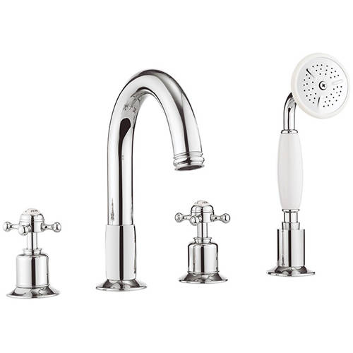 Additional image for 4 Hole Bath Shower Mixer Tap (Crosshead, Chrome).