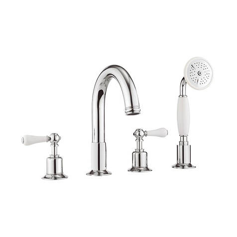 Additional image for 4 Hole Bath Shower Mixer Tap (Lever, Chrome).