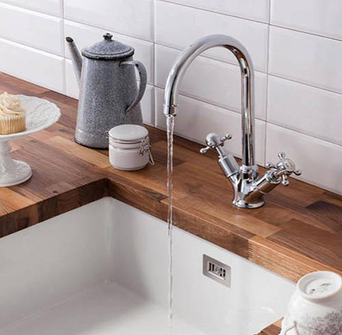 Additional image for Belgravia Dual Control Kitchen Tap (Chrome).